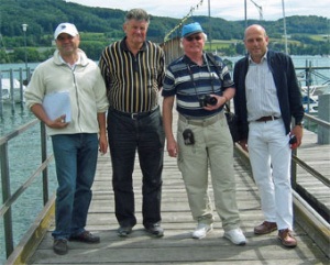 Bild v. l.: 2. Vorsitzender M. Lepple, die IWGB-Auditoren J. Jänicke und H. Plaettner-Hochwarth, Ressortleiter Th. Jaeckle