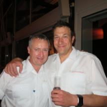 Thomas Renz und sein Stellvertreter Jörg Bader von der Freiwilligen Feuerwehr Wangen